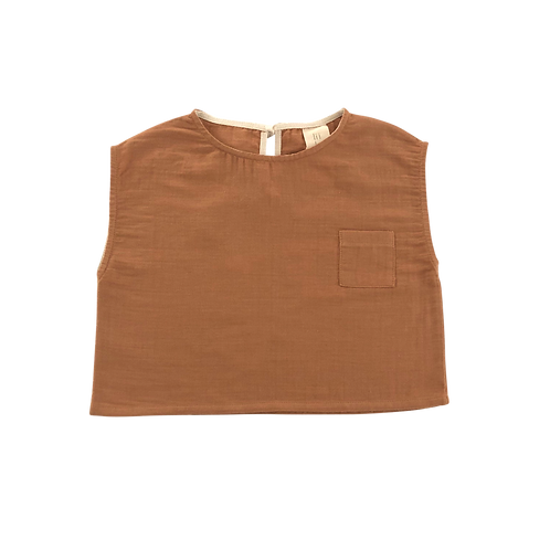 Pocket Shirt, Terracotta - LiiLU
