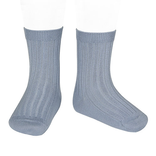 Rib Short Sock, Steel 402 - Condor
