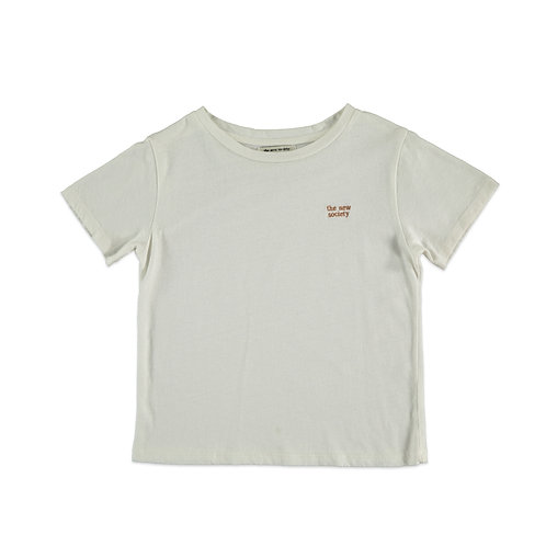 Logo Kids T-Shirt, Off White - the new society