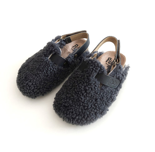932 Fleece Clogs, Antracite by PePe