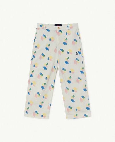 Camel Kids Trousers, White Squares - TAO