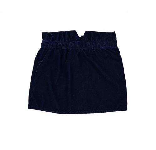 Kiki Velvet Skirt, Navy - Louis Louise