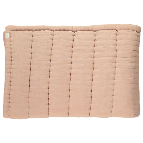 Cot Bed Hand Quilted blanket, Peach Blossom  - Camomile London