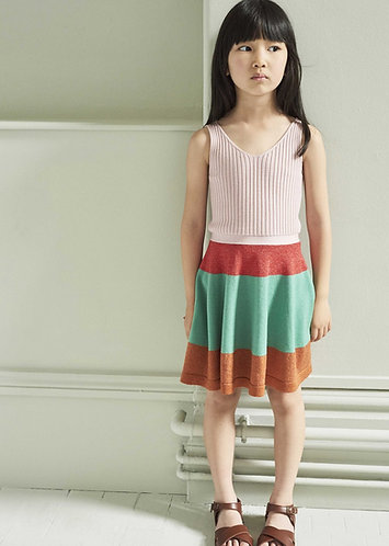 Redchurch Knitted Dress, Multi Coloured - Caramel