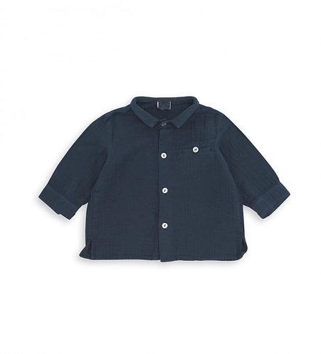 Terry Cloth Baby Shirt, Shark - BONTON