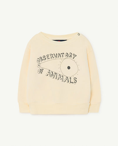 Bear Baby Sweatshirt, Yellow Observatory - TAO