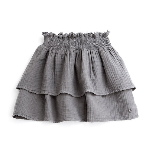 Floaty Skirt Double Fly, Grey - Tocoto Vintage