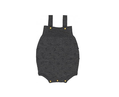 Poire Wool Overall, Grey - Louis Louise