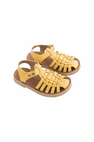 Braided Sandals, Canary - Tiny Cottons