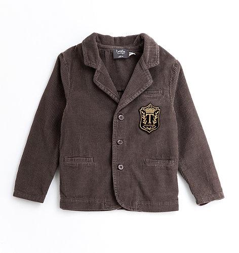 Corduroy Blazer, Brown - Tocoto Vintage