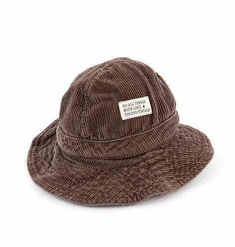 Corduroy Hat, Brown - Tocoto Vintage