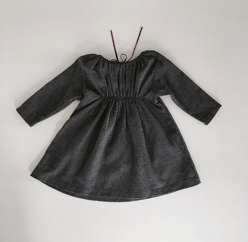 Flannel Dress Julia Charcoal - Makie