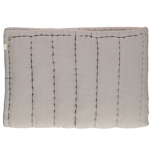 Single Bed Hand Quilted Blanket, Smoke Grey - Camomile London