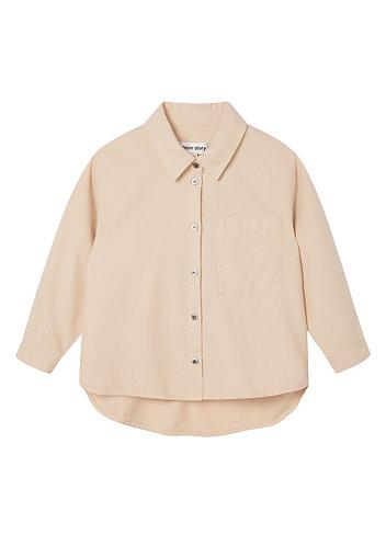 Laundered Oversized Shirt, Smoke Grey - Main Story