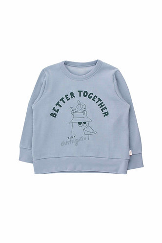 Friends Together Sweatshirt, Summer Grey - Tiny Cottons