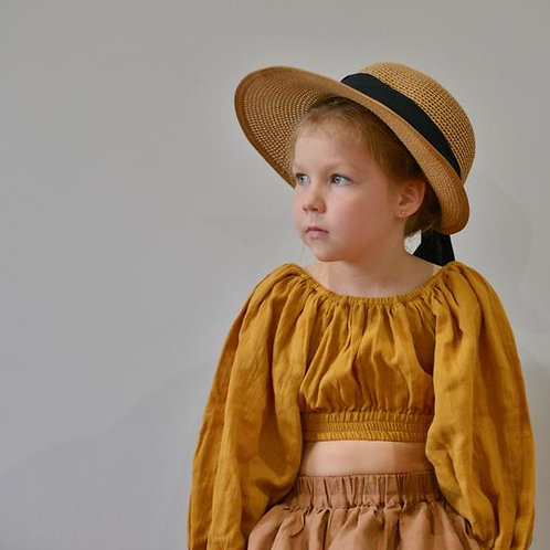 The Mabel Top, Mustard - Mysie & Nola The Label