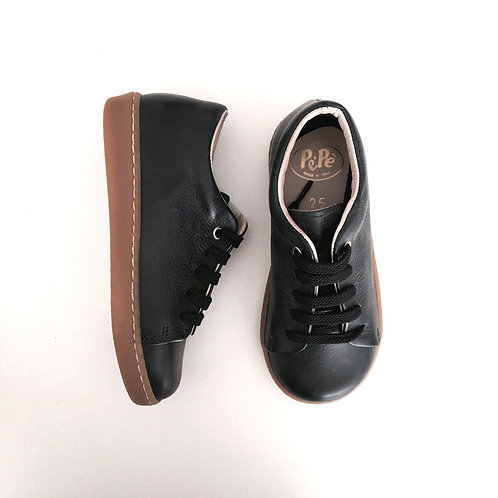 Navy Leather Shoes by PePe