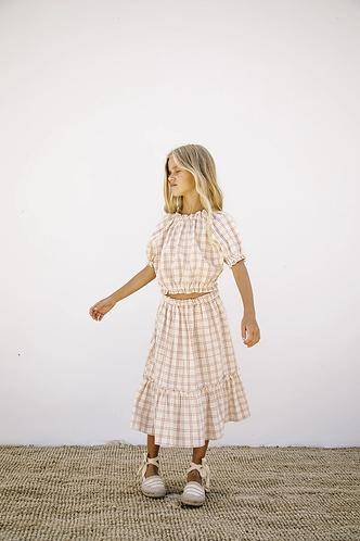 Dana Skirt, Rustic Check - LiiLU
