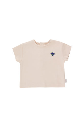 Tiny Bouquet Relaxed Tee, Pastel Pink/Iris Blue - Tiny Cottons