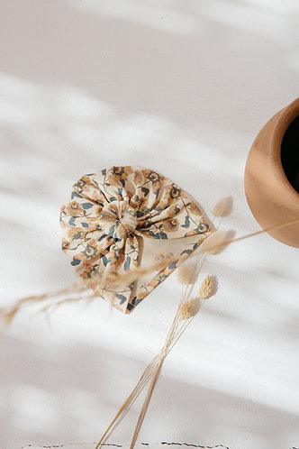Swim Turban, Cream Flowers - Louise Misha