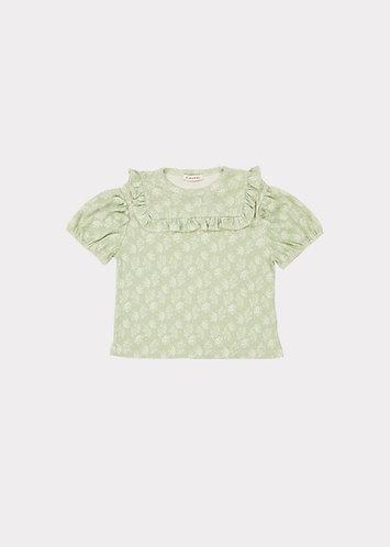 Lionfish T Shirt, Dotty Flower Mint - Caramel