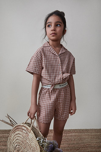 Arlette Shirt, Caramel Check - the new society