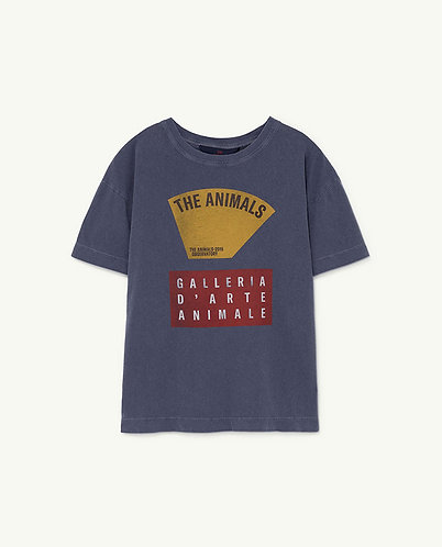 Rooster Kids T-Shirt, Navy Scale - TAO