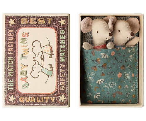 Mouse Baby Twins In Box - Maileg