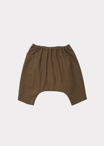 Apollo Baby Trouser, Balsam Green - Caramel