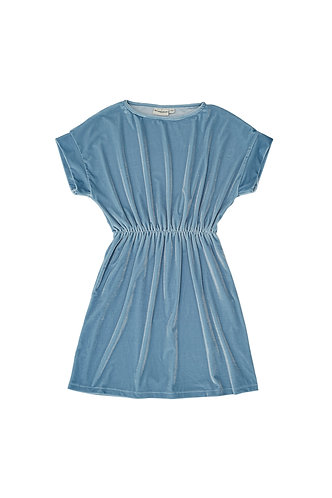 Velvet Dress, Blue - The Campamento