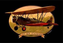 Old Rhinebeck Aerodrome, 1929 New Standard, biplane, illustration, Eric Stegmaier, www.ericstegmaier.com