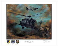 106th Rescue wing, 101st rescue squadron, 102nd rescue squadron, 103rd rescue squadron, USAF, USANG, combat rescue, pararescue, illustration by Eric Stegmaier, www.ericstegmaier.com, US Air Force