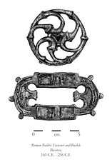 Roman Baldric Fastener and Buckle, illustration by Eric Stegmaier, www.ericstegmaier.com