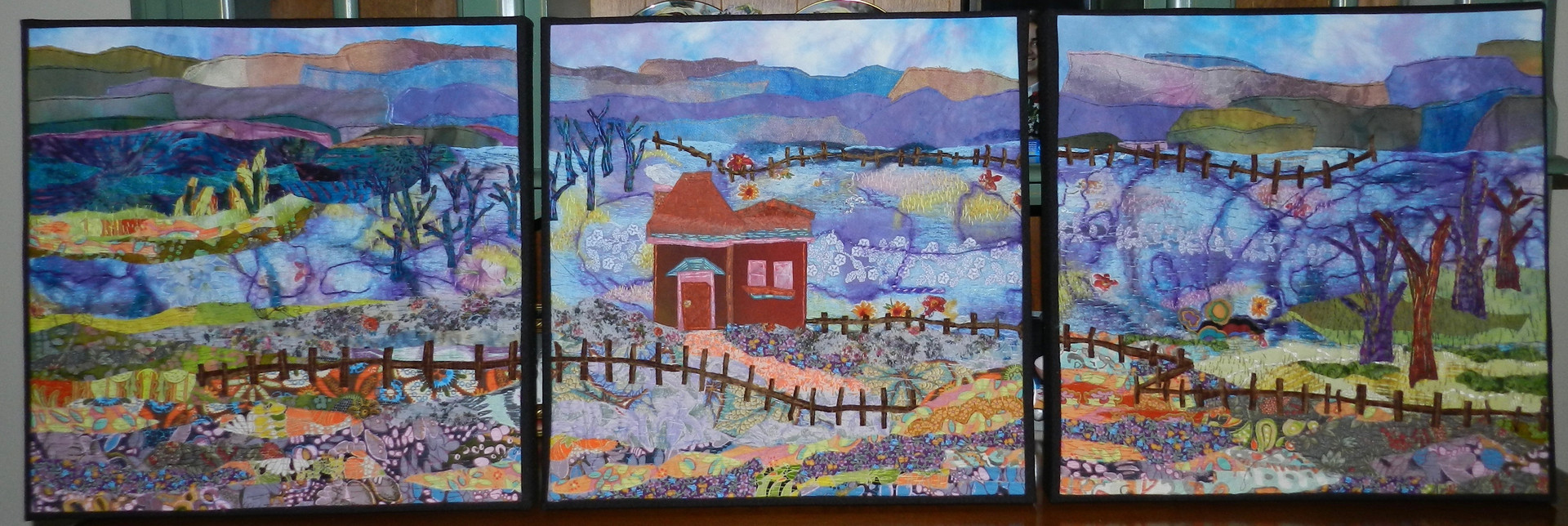 Spring at the Homestead Triptych