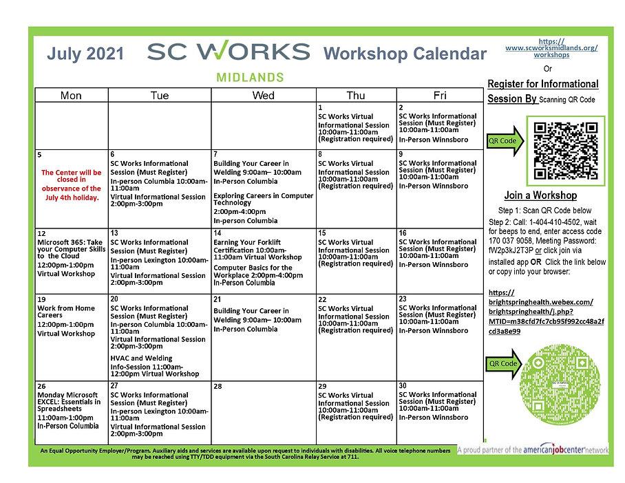 July SC Works Midlands Workshop Calendar ...jpg