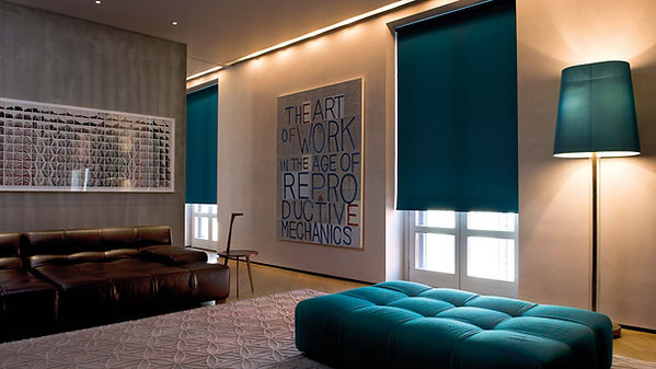 Turquoise Blackout Roller Shades