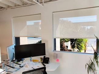 White Solar Screen 5% installed in Office