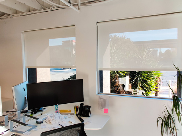 White Solar Screen 5% installed in Office