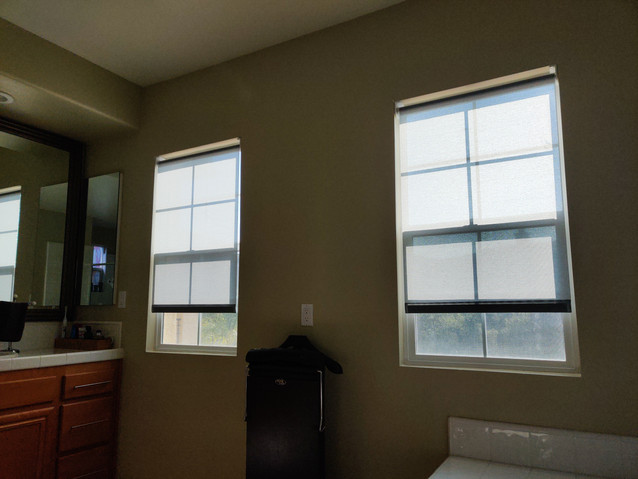 Privacy Shades for bathroom