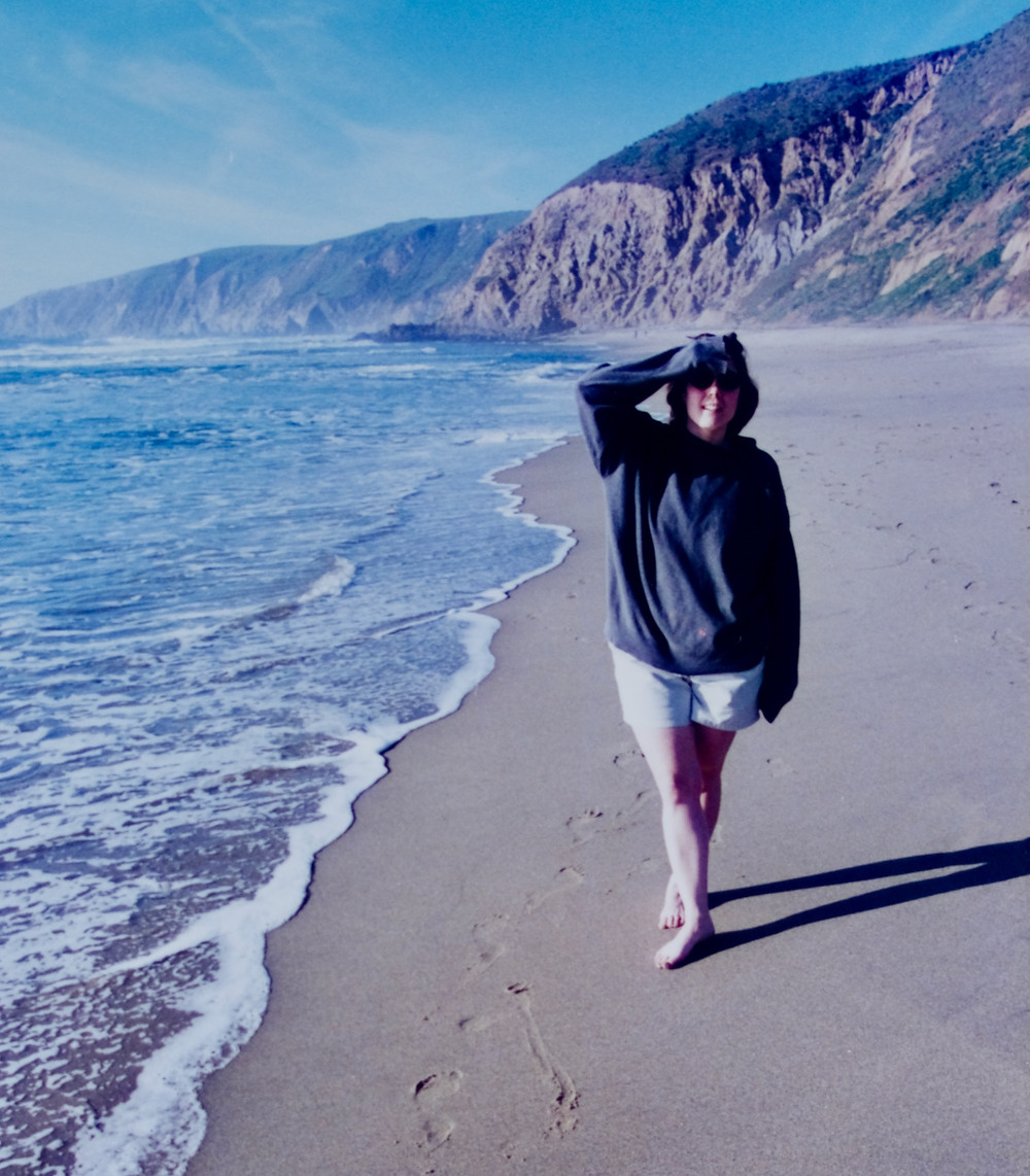Riki on California beach