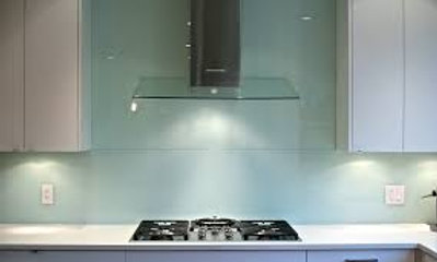 24 x 30  White Mint- Solid Glass Backsplash Back-Painted
