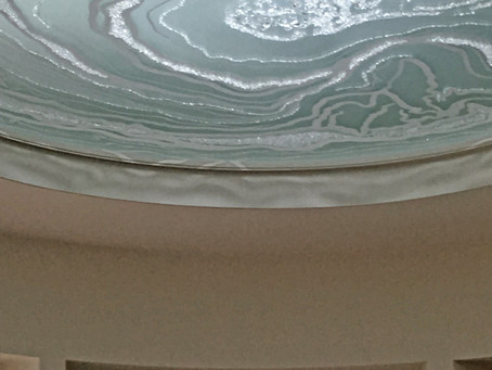 Agate glass ceiling panel