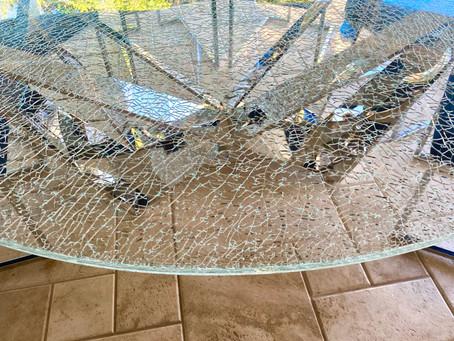 Hollywood Crackle Glass