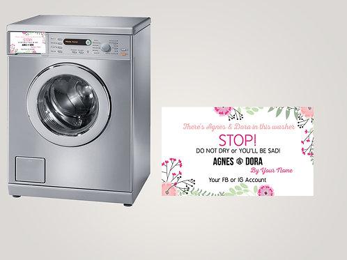 Magnetic care card Agnes & Dora Floral 2