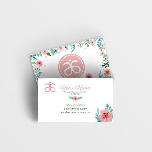 Arbonne watercolor flower business card