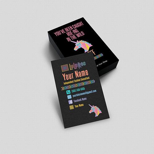 Roe-ing the wild Lularoe business card Unicorn