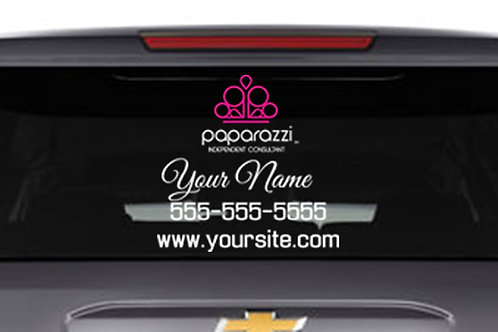 Paparazzi Car Decal Dual Color- updated logo