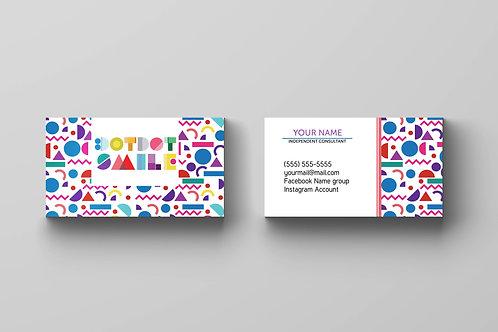 Dotdot smile business card geometric