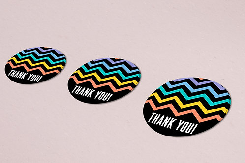 Thank you sticker chevron rainbow lularoe black
