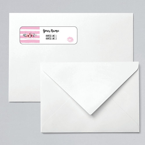 Return address label lipsense pink